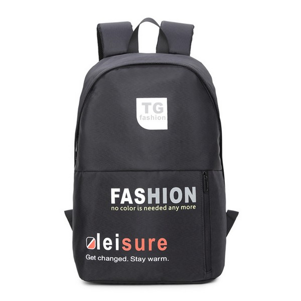 New Contrast Student Bag Canvas Letter Print Backpack Sports Fashion Backpack