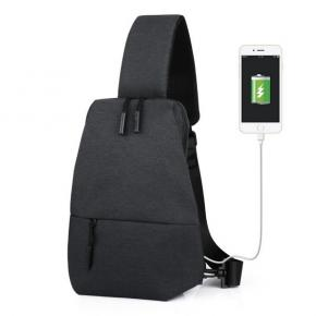 Sling Bag for Men Crossbody Shoulder Chest Bags for Travel Gym Sport Hiking with USB Charging Port