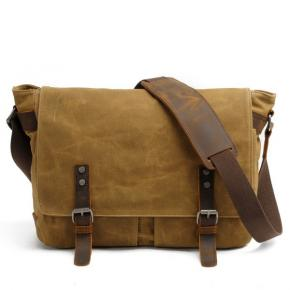 Mens Laptop Shoulder Canvas Messenger Bag Waterproof Computer Briefcase Notebook Vintage Satchel Designer School Work Bags