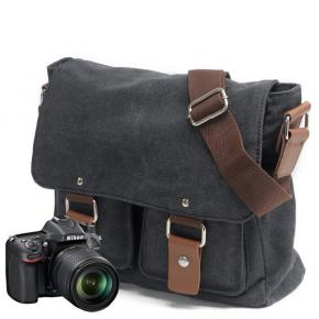New Arrival Fashionable Multifunction Travel Outdoor Waterproof Waxed Canvas Camera Video Bags