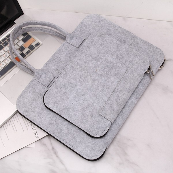 15.6 Inch Laptop Sleeve with Handle, Felt Laptop Bag Notebook Bag Briefcase Computer Carrying Bag Case Cover Pouch