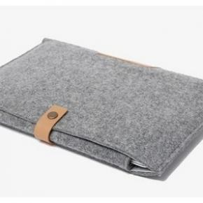 11.6 Inch Felt Leather Strap Laptop Sleeve Case Wool Felt Leather Ultrabook Case Laptop Cover Computer Carrying Sleeve Pouch Bag For Laptop and Macbook