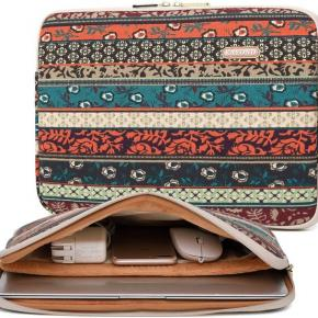 Waterproof Fabric Vintage Bohemian Fashion Style  Laptop Sleeve With Zipper for Macbook